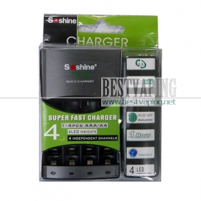 Wholesale Soshine 4LED AA/AAA Quick Battery Charger With Delta V|SC-U1