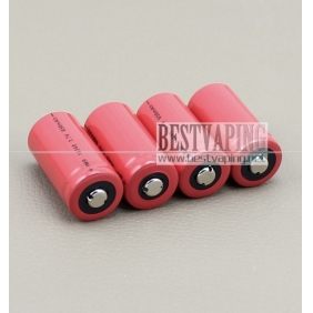 Wholesale Button top IMR li-Mn 16340 650mah 3.7V battery for mods (1pc)