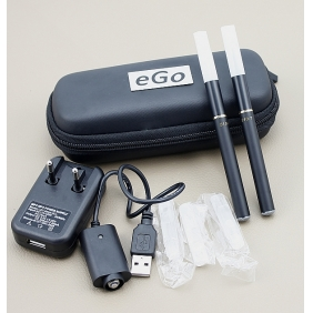 Wholesale 510-T 180mah Electronic Cigarette with Dual Cigarette Stem General Flavor High Content with Portable Bag